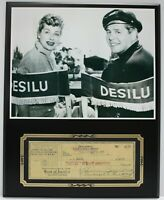 Lucille Ball Reproduction Signed Check Display