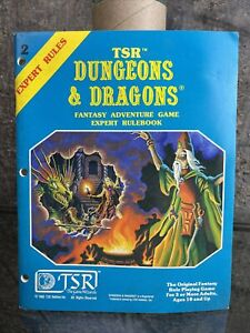 TSR Dungeons & Dragons Fantasy Adventure Game Expert Rulebook 1st Printing '81