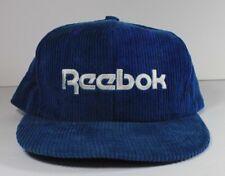 Vtg Reebok Corduroy Blue & White Adjustable Strapback Hat