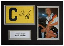Rudi Voller Signed Captains Armband A4 photo display Germany Football & COA