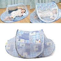 Folding Baby Kid Infant Travel Bed Crib Canopy Mosquito Net Netting Tent 1X QA