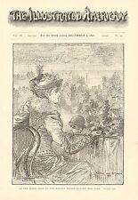 NY, Horse Show, Madison Square Garden, New York, Vintage 1892 Antique Art Print