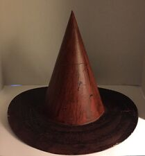 Halloween Painted Witch Hat Decoration Black & Orange