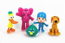 5pcs Cartoon Pocoyo Pato Elly Loula Sleepy Bird PVC Action Figures Kids Toy Gift