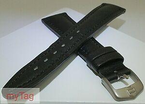 Original Genuine  TAG Heuer Mens Black Leather  Strap w/Steel Tang Buckle 20mm