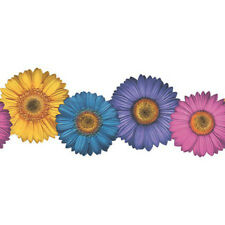 PRETTY FLOWERS DIE CUT EDGES WALLPAPER BORDER 1 ROLL ONLY
