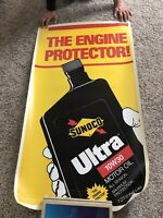 Vintage Sunoco Engine Protector Ultra 10W30 Vinyl Poster-HUGE SIGN