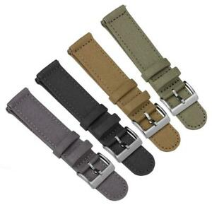 ZULUDIVER® Croyde 2 Piece Canvas Quick-Release Watch Strap 18 20 or 22mm