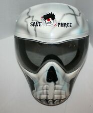 SAVE PHACE Paintball/Airsoft Tactical Grey and Black Skull & Anti-Fog Lens