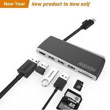 Anewish Usb-C Hub concentrador USB de tipo C con entrega de potencia para cargar Adaptador 6 en 1