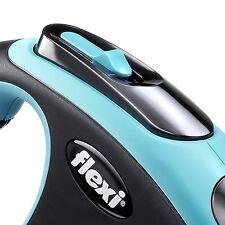 Retractable Flexi New Comfort Tape Leash 16 Foot Size M Color Blue Soft Grip