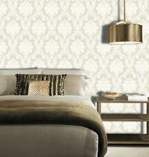 Arthouse Opera Romeo Damask Feature Wallpaper Cream Gold Heavy Weight Shimmer