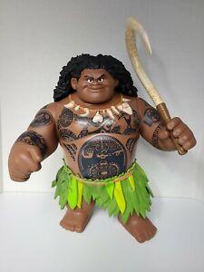 "Disney 15"" Mega Maui Talking Singing Doll Action Figure Toy w/Hook from Moana"