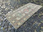 Wool rug, Bohemian rugs, Runner rug, Handmade rug, Turkish rug   2,9 x 6,2 ft