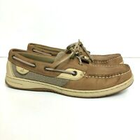Sperry Top-Sider Bluefish Women's Size 8.5M 2-Eye Tan Leather Boat Shoes 9276619