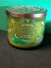 "Bath & Body Works ""AUTUMN WOODS"" 3 Wick Candle 14.5 oz"