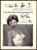 1954 EXQUISITE FORM 505 Bra AD Ladies Lingerie Advertising