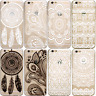 HENNA Dream Catcher Paisley Mandala Clear Phone Case iPhone 7 Plus 8 X 6 6S SE