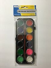 1 SET 12 COLORS WATERCOLOR PAINT WITH BRUSH