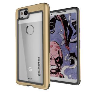 Foir Google Pixel 2 Case   Ghostek ATOMIC SLIM Clear Back Aluminum Bumper Cover