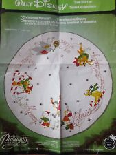 vtg paragon disney christmas parade tree skirt felt applique kit #6278 45""