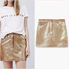SALE ❤ Metallic Gold Shiny Bodycon Mini Skirt Size 12 US 8 Blogger ❤