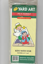 "Kids with Star Yard Art Pattern Woodworking 41"" x 44"" Easy Instructions"
