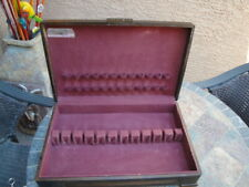 Vintage Prestige Wood Dove Tail tarnish resistant Flatware SILVERWARE CHEST BOX
