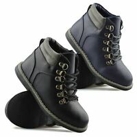 Boys Kids Infants Casual Winter Walking Warm Fur Ankle School Boots Shoes Size
