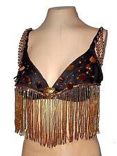 vintage Top Bra Sexy Beads Sequins, M 38C