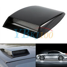 Cool Universal Car decorative Air Flow Intake Scoop Bonnet Vent Cover Hood Black