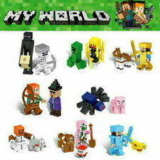 Minecraft Blocks Figures Custom Lego Creeper Steve village ender