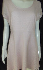JAY JAYS Womens Cap Sleeve Pale Pink Dress Size 14