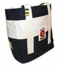 Polo Ralph Lauren Rugby Mens Womens Vintage Canvas Carryall Tote Bag Black Cream