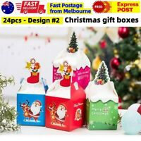 24pcs Xmas Christmas Gift Boxes Bags Treat Favour Present Candy Cookie Box Party