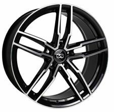 18x8 Enkei Rims SS05 5x108 +40 Black Rims Fits Ford Focus Thunderbird