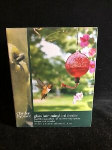 Classic Handblown Glass Ball Red Hummingbird Feeder 26 Ounce Capacity