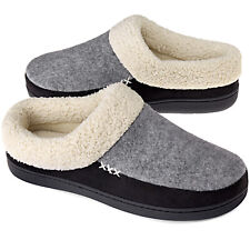 VONMAY Men's Memory Foam Comfort Slippers Wool-Like Lining Slip on House Shoes