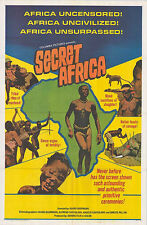 SECRET AFRICA original 1969 MONDO/EXPLOITATION one sheet 27x41 movie poster