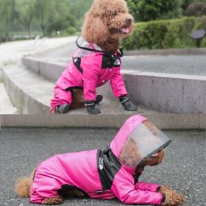 The Dog Face Jacket Fashion Waterproof Pink Luminous Visibility Warm Hood Coat