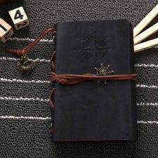Black Pirate Retro Vintage Pocket Leather Notebook Kraft Diary Travel Journal #A