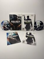 Call of Duty: Black Ops and Modern Warfare 3 MW3 (Nintendo Wii) Game Lot Bundle