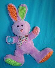 "Publix EASTER BUNNY RABBIT 12"" Purple Plush Soft Toy Polka Dots Ears Bow Stuffed"
