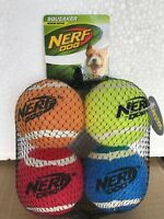 Nerf Dog Medium Squeaker Tennis Ball Dog Toy (4 Pack)  / 367