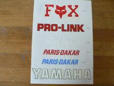 STICKERS,DECALS ON PAPER YAMAHA, PRO-LINK PARIS-DAKAR VOS RACING MOTO MOPED BIKE
