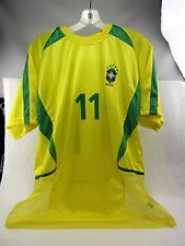 Jersey  XL - Soccer Football National Team BRASIL #11 RONALDINHO, mesh on bottom