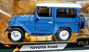 Toyota FJ40 Hardtop - Blue/White - 1/24