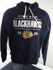 Chicago Blackhawks Hoodie NHL Hockey Black Sweatshirt Large