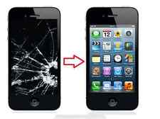 Apple iPhone 4S schwarz Display Austausch Reparatur