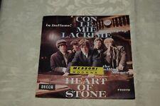 Disco 45 giri The Rolling Stones Con le mie lacrime  Heart of stone (265) ^